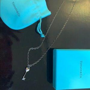Tiffany Key with Diamond and on Tiffany Chain
